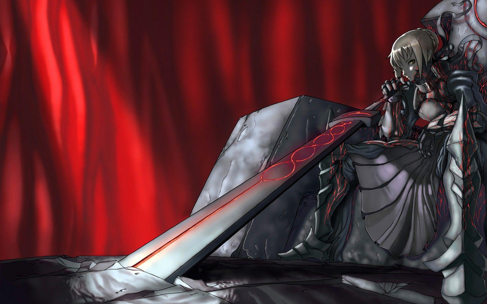 Anime 1920x1200 Fate Series Saber dark Saber Alter armor