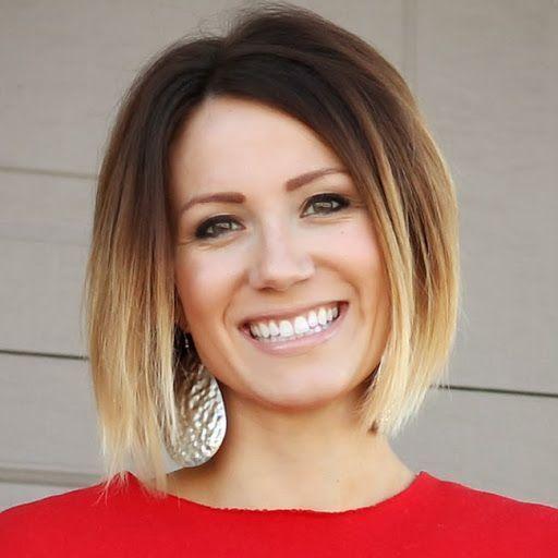 Simple et facile court ombre bob coupe de cheveux pour les femmes ombre hair pinterest - Ombre hair carre plongeant ...
