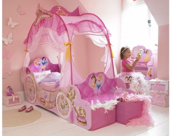 Disney Princess Room Princess Carriage Bed Toddler Canopy Bed
