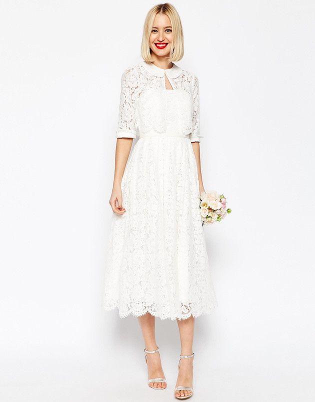 Lace Wedding Dress Midi