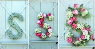 Flower Arrangement Tutorial Monogram