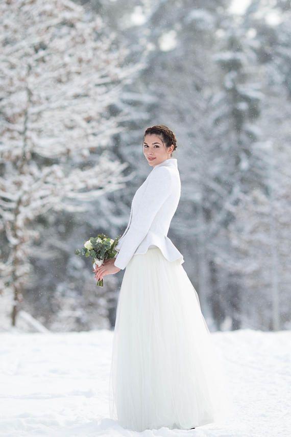 Bridal Jacket | Warm Elegant Bridal Jacket | White Jacket | Retro ...