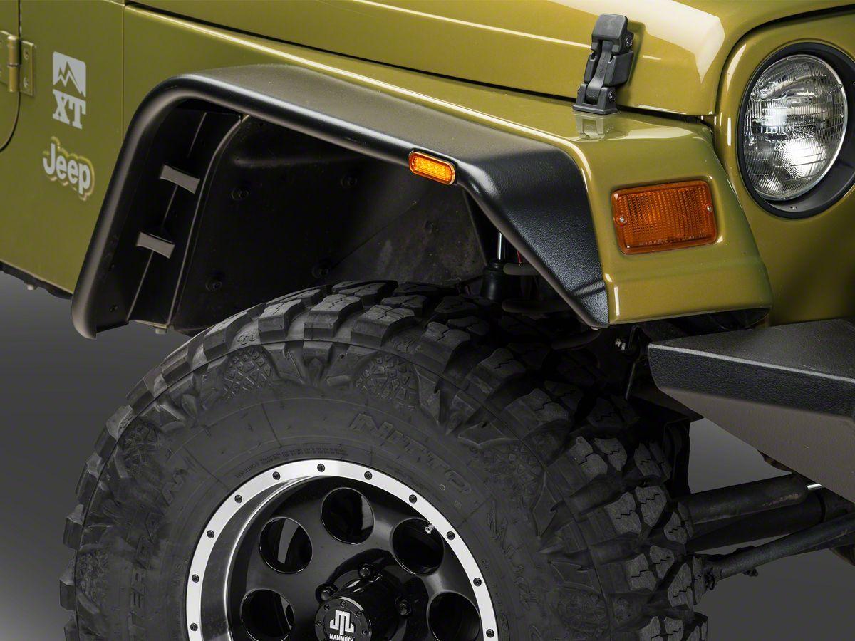 Barricade Flat Style Fender Flare Kit 97 06 Wrangler Tj Jeep
