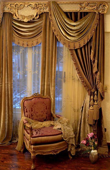 Opulent Traditional Style Formal Dining Room Furniture Set: Opulent Traditional Draperies. Message DesignNashville For
