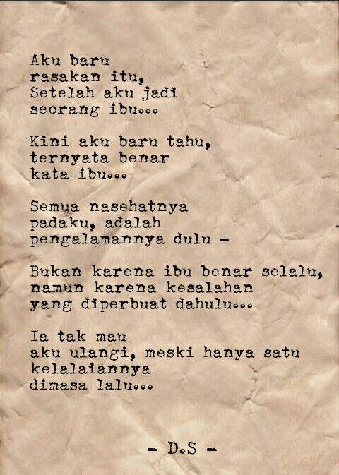 Puisi Tentang Ibu Singkat : puisi, tentang, singkat, Puisi, (Dhee', Unsent, Letters), Ideas, Poetry,, Quotes, Indonesia,