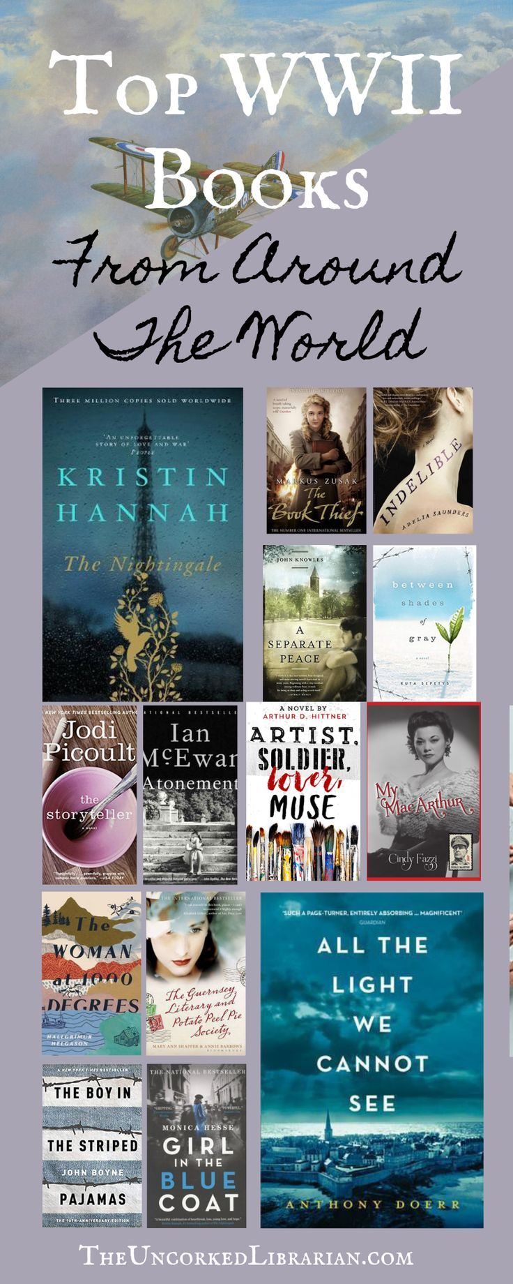 Do you love WWII novels? These are some of the best World War 2 books out recently. Check out this book list to find the top and most unique World War II historical fiction. Best selling and indie authors included. WWII Historical Fiction, WWII Books from around the World, New WWII Fiction, and World War II Novels. #historicalfiction #bookstoread #WWII