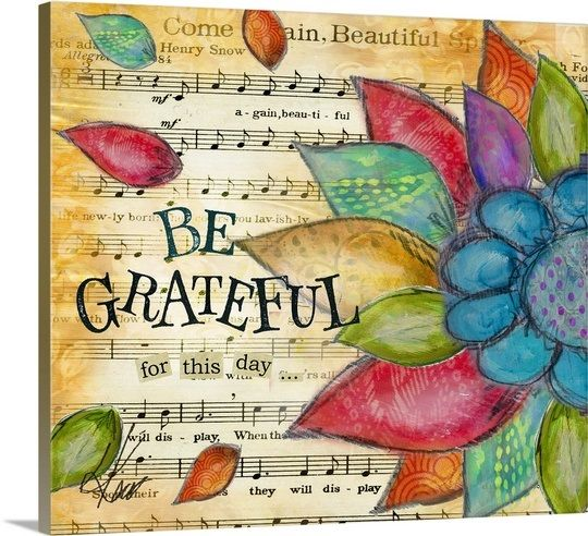 Be Grateful Gallery-Wrapped Canvas
