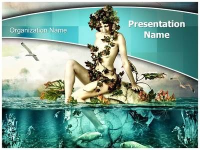 Mermaid Out of Water Powerpoint Template is one of the best - water powerpoint template