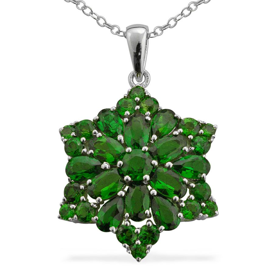 Liquidation channel russian diopside pendant with chain 18 in in liquidation channel russian diopside pendant with chain 18 in in sterling silver aloadofball Images