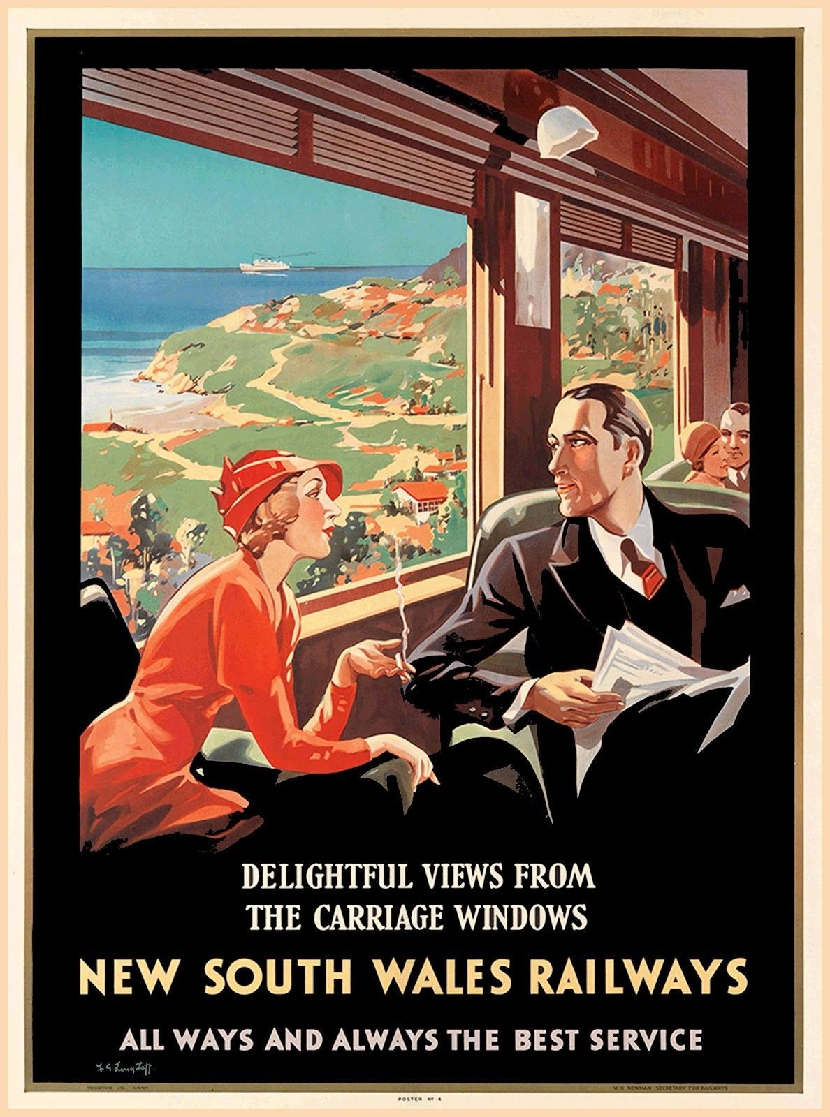 134e50a7f28  7.99 - South Wales Railways Australia Vintage Railroad Travel  Advertisement Poster  ebay  Collectibles