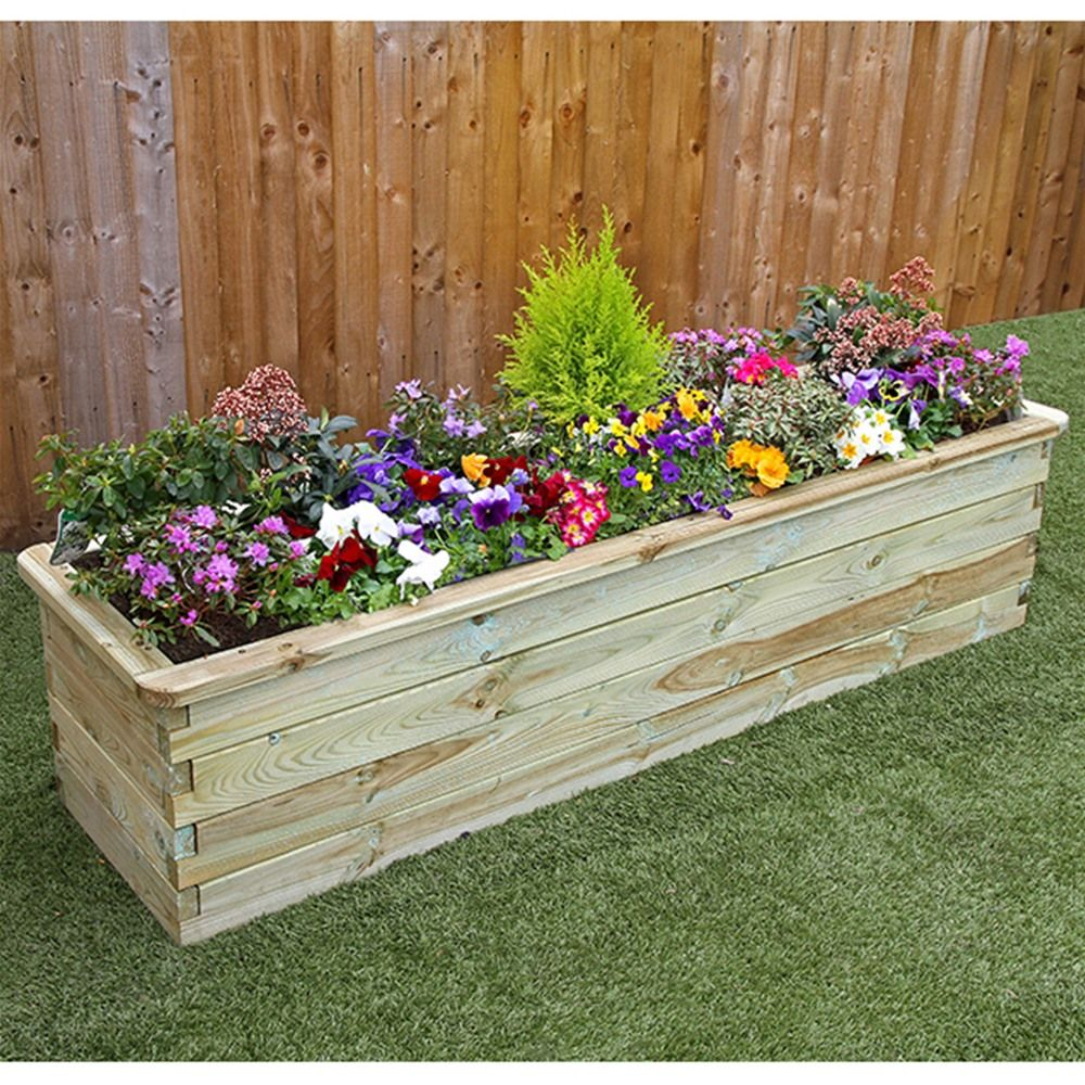 Zest 4 Leisure 1.8m Deep Wooden Sleeper Raised Bed Planter | Internet  Gardener