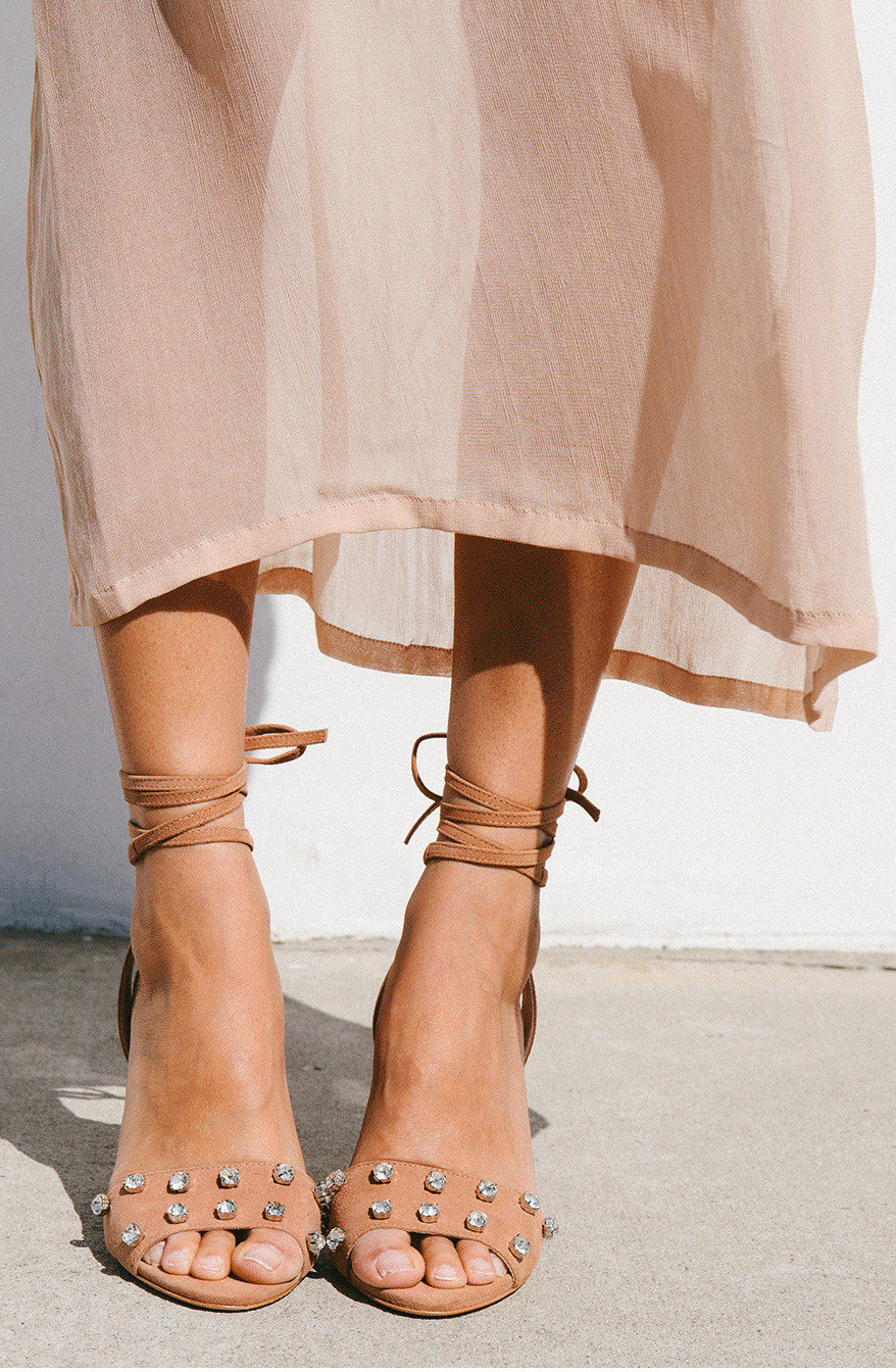 4845092c8352 Elayna Ankle-Tie High Heel Sandal