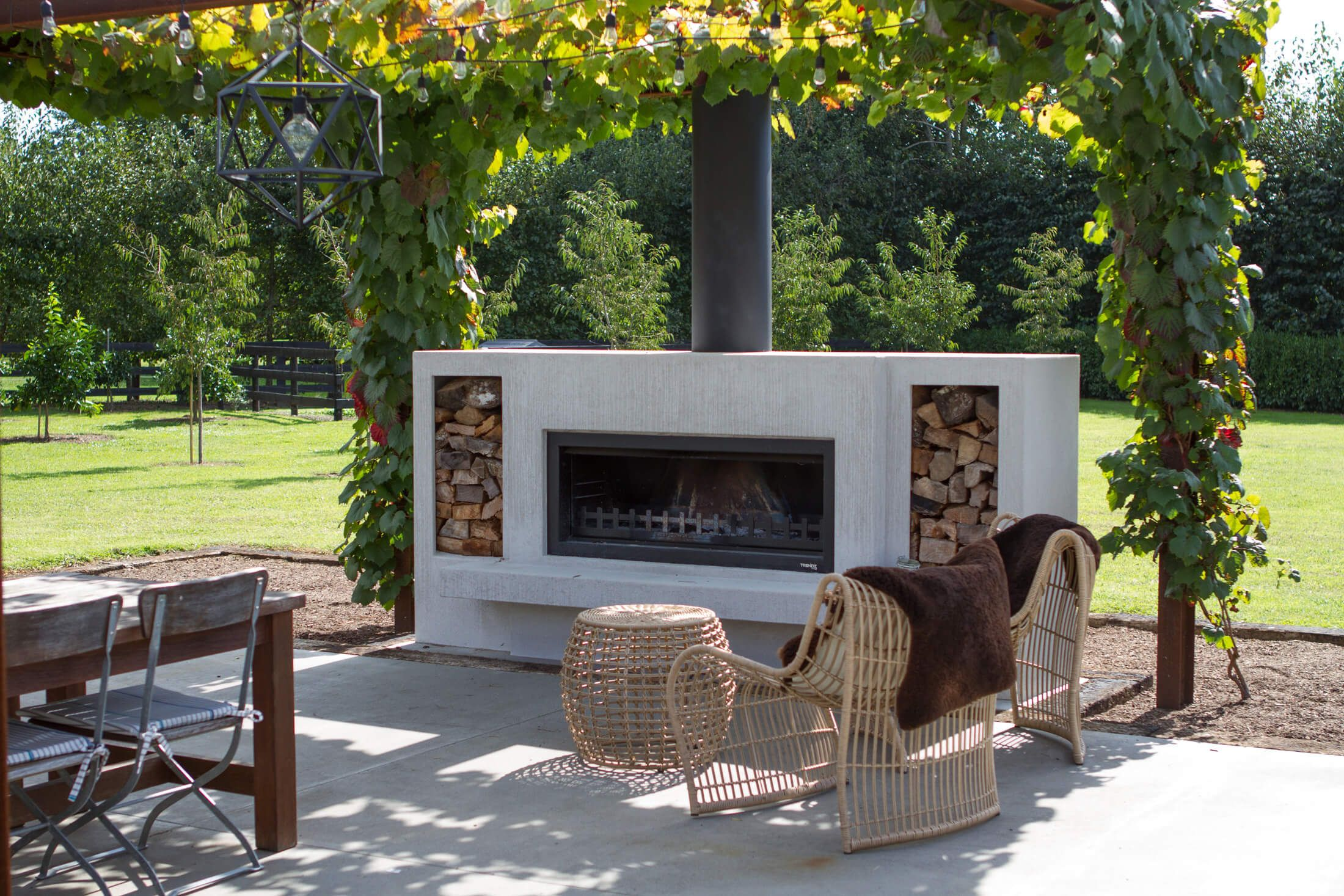 The Burton Outdoor Fireplace by Trendz Outdoors | Free Delivery