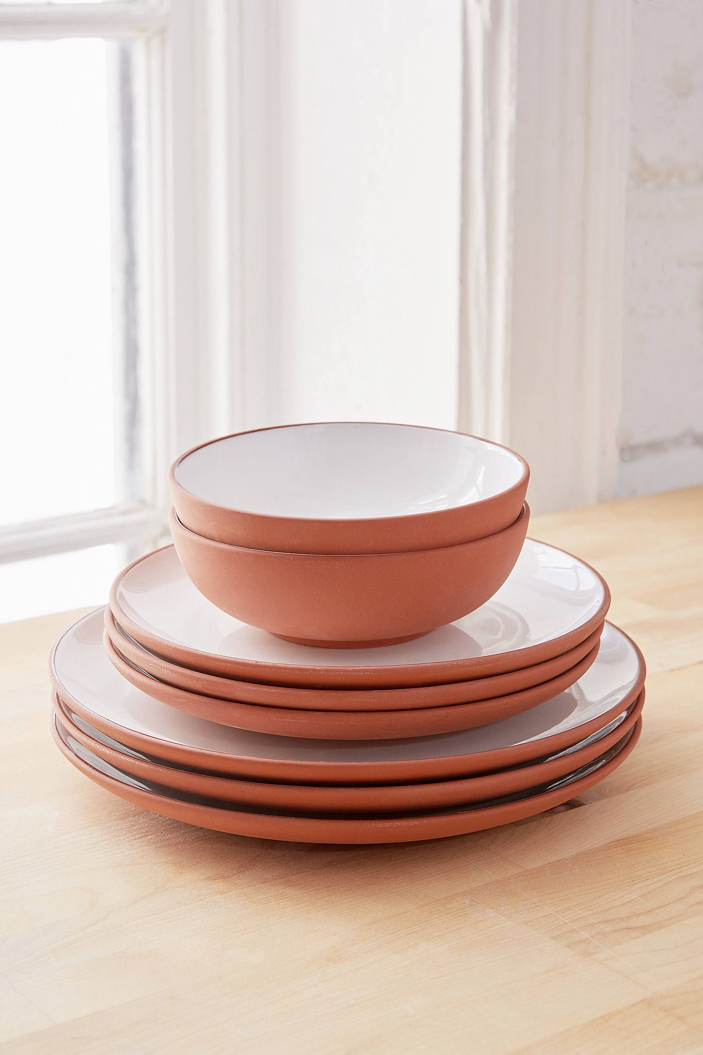 Shop 12-Piece Terracotta Dinnerware Set at Urban Outfitters today. We carry all the latest styles colors and brands for you to choose from right here. & 12-Piece Terracotta Dinnerware Set | Terracotta Dinnerware and ...