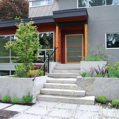 Concrete Steps And Walls Design Ideas, Pictures, Remodel, and Decor ...