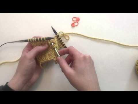 ▶ How to work Elizabeth Zimmerman's Phony Seam Technique - YouTube