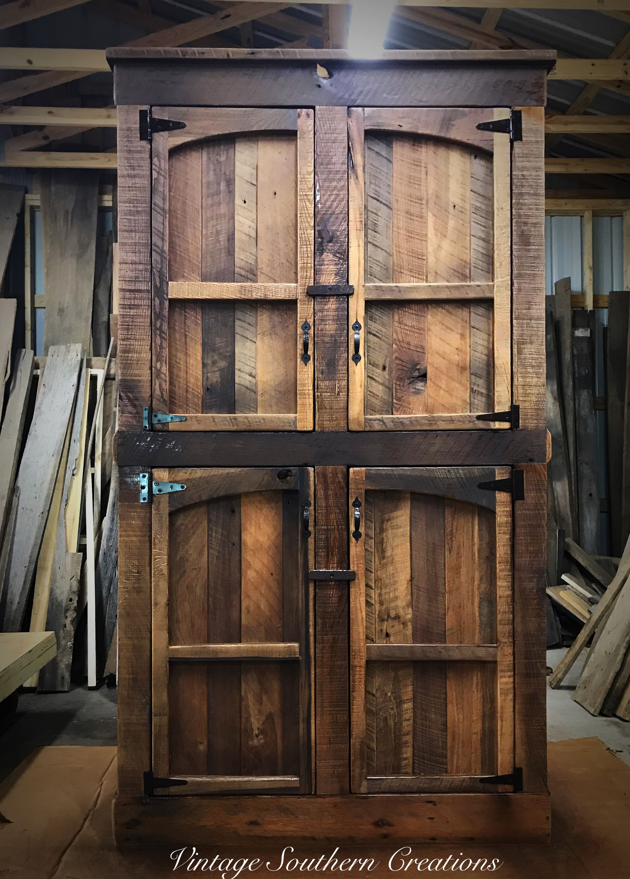 Barn wood pantry built by Vintage Southern Creations