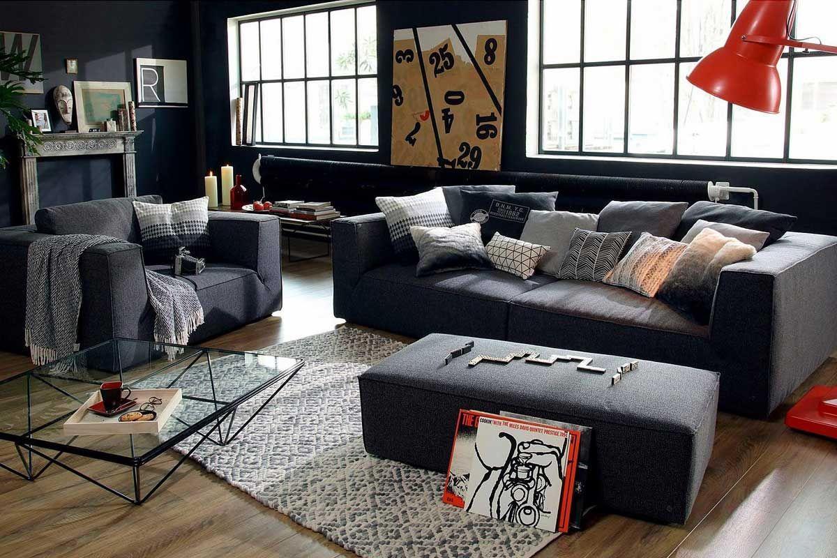 Tom Tailor Big Sofa Big Cube Style Mit Bequemen Stegkissen Extra Grosse Sitztiefe Breite 240 Cm Grosse Sofas Wohnen Big Sofa Grau