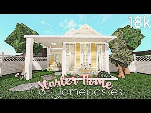Bloxburg No Gamepasses Starter Home 18k In 2020 House