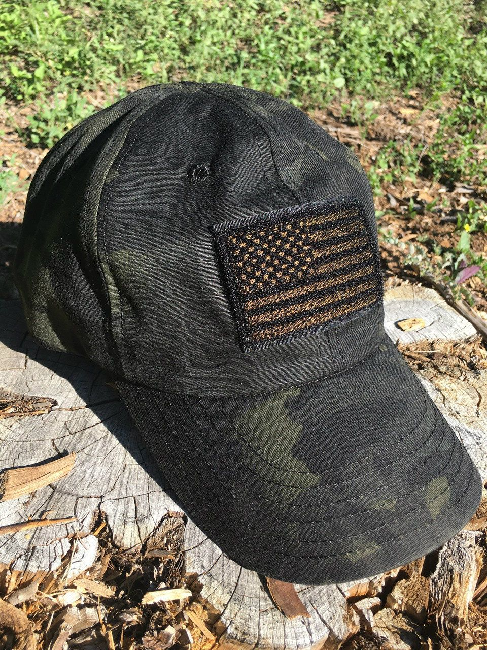 Black Multicam Flag Hat ROGUE AMERICAN Flag hat