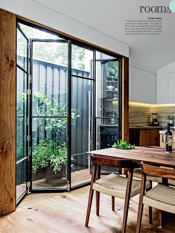 Real Living Magazine May 2014 Folding Steel Amp Glass Patio