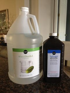Overthrow Martha: Mom's DIY Carpet Cleaner and Odor Remover 50% Vinegar, 50% Hydrogen Peroxide