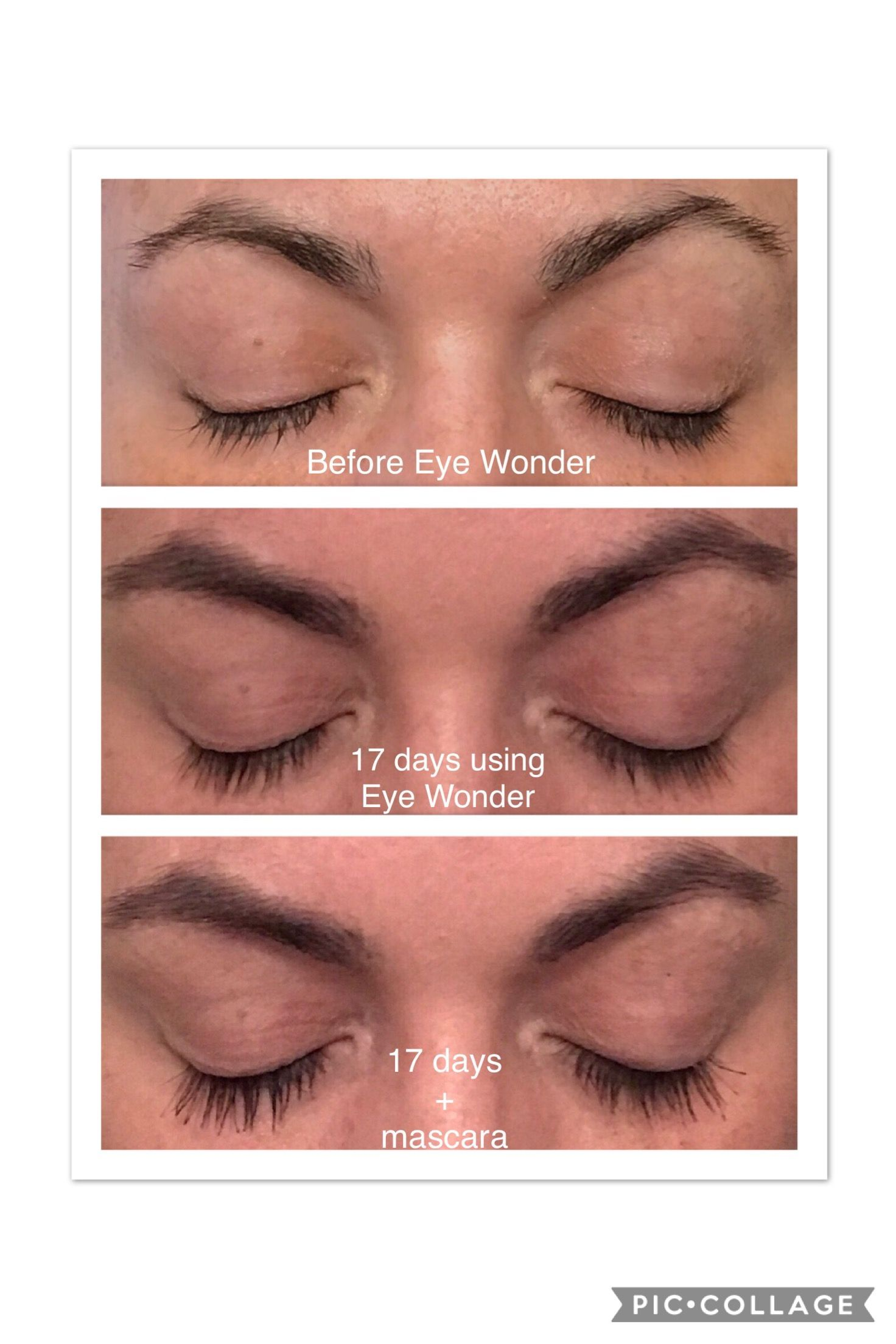 b4eb4b94140 #EyeWonder results only 17 days of use! Great for sensitive eyes! Lengthen your  lashes and thicken your eyebrows just like I did! Eretlindsey.mymonat.com