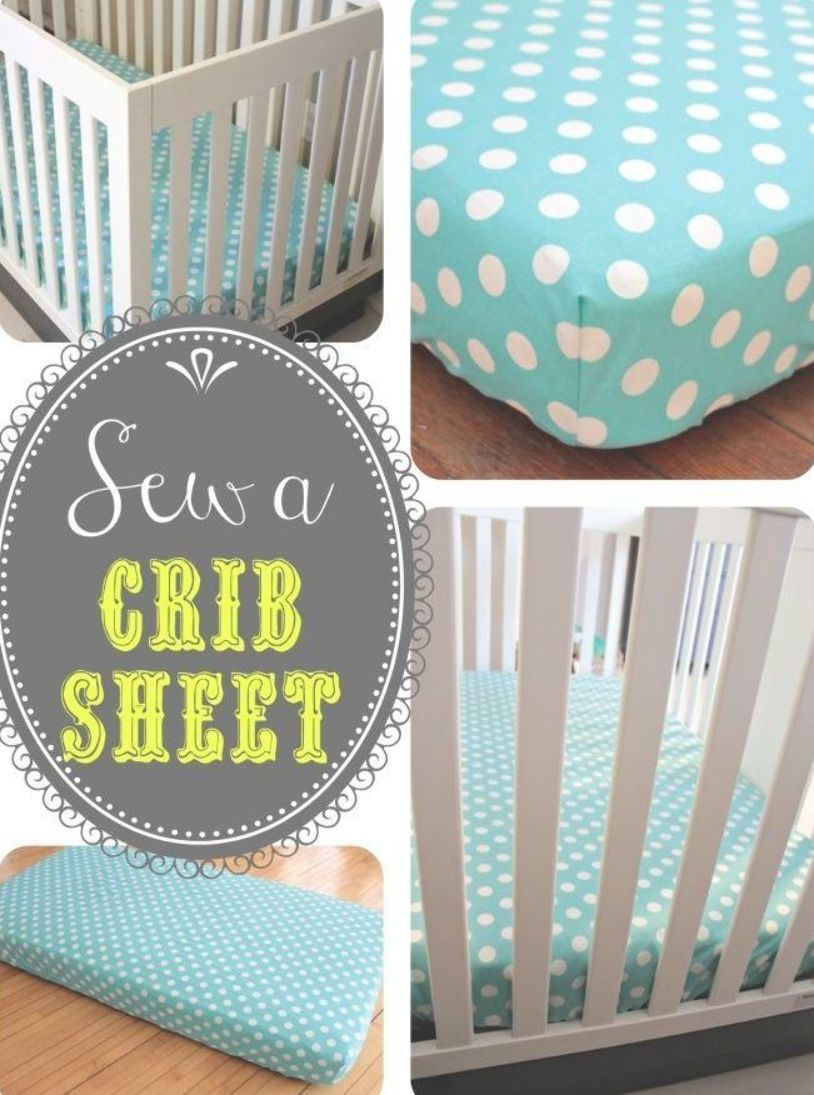 Why Buy Crib Sheets When You Can Make Your Own With The
