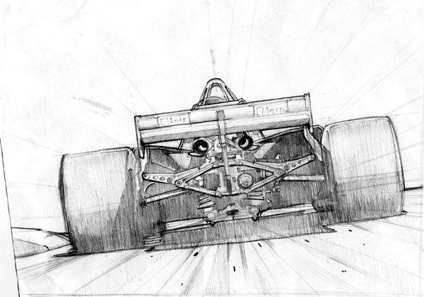 Formula 1 Pencil Drawing Automotive Art Motorsport Art Motorcycle Drawing