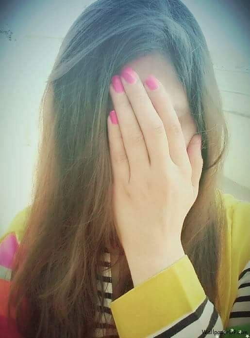 Image For Cute Girl Hidden Face Profile Picture Download -2947