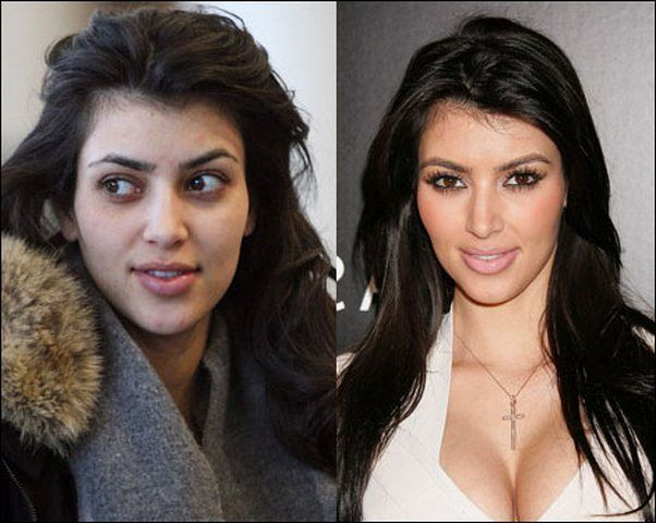Heres What Your Celebrity Crush Looks Like When Shes Without Her - Kim-k-without-makeup