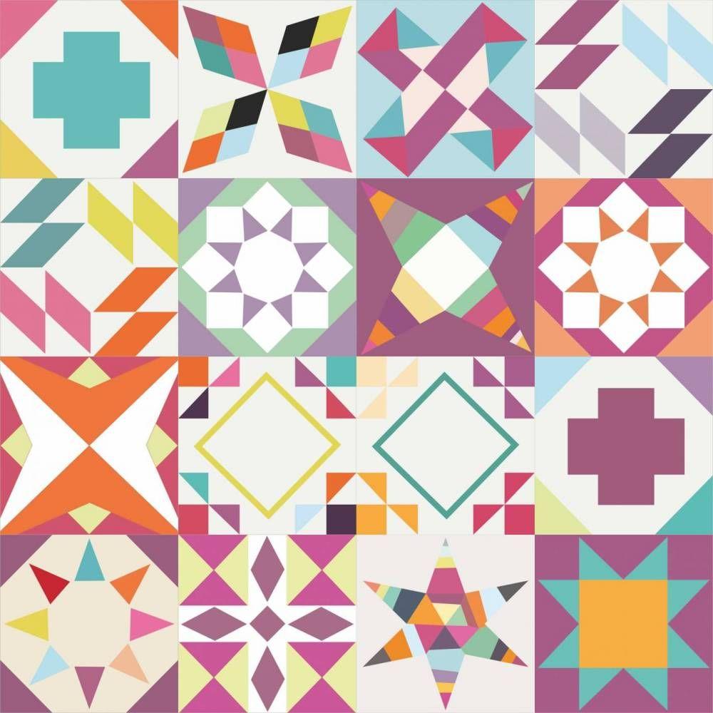 Papel de parede azulejo mix geométrico 030