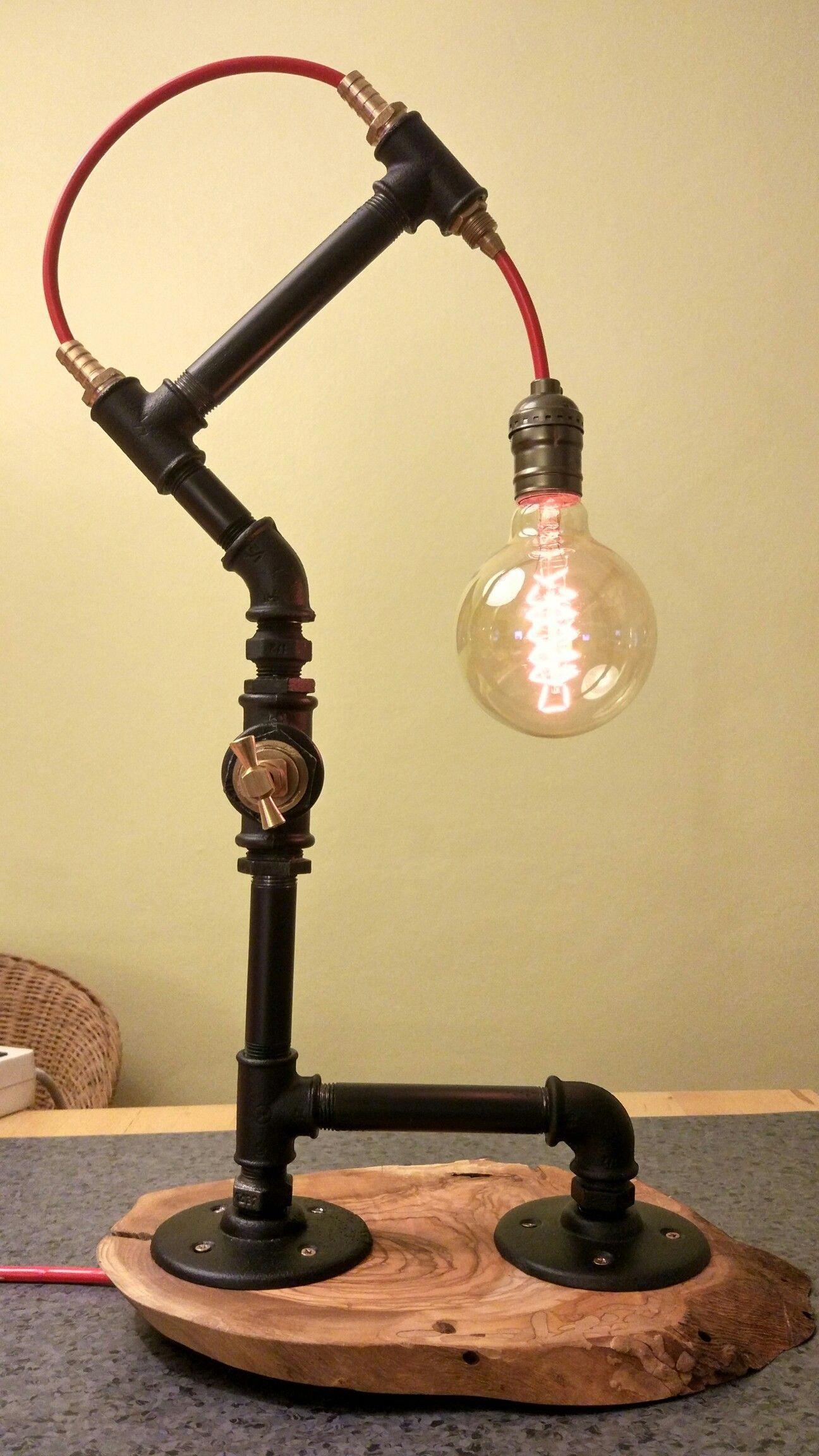 Pipelamp Shabbychiclamps In 2020 Rohr Lampen Lampen Und Leuchten Lampen