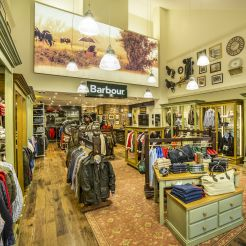 370e8dc09 Barbour Bicester Village store interior photography by Richard Kenworthy