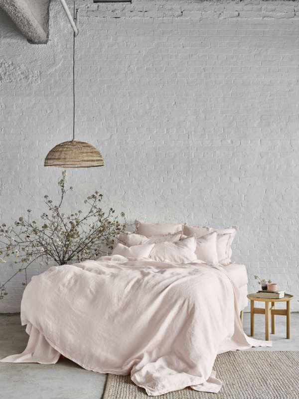 Pure Linen Quilt Cover Set In Peony Pink Hardtofind Bed Linens Luxury Linen Bed Sheets Bed Linen Sets