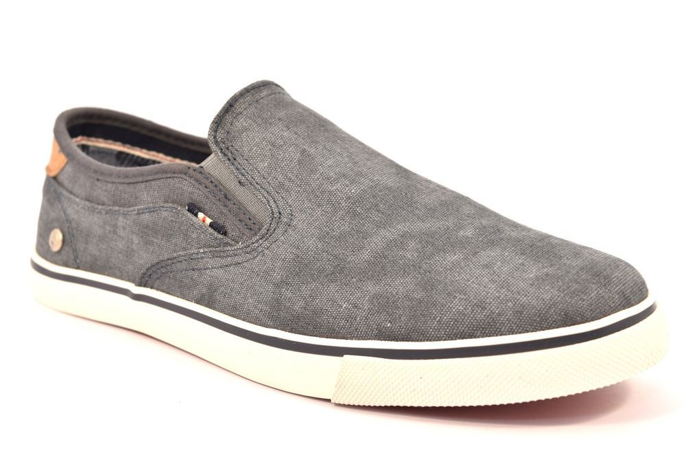 WRANGLER WM171022 16 MITOS SLIP ON BLU Denim Jeans Uomo Ragazzo Scarpe  Sneakers
