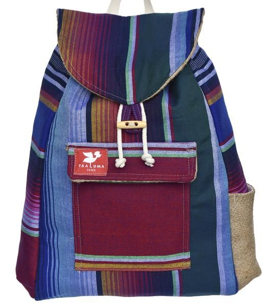 Made of fabric from Mexico, this tote gives back to people in Mexico.