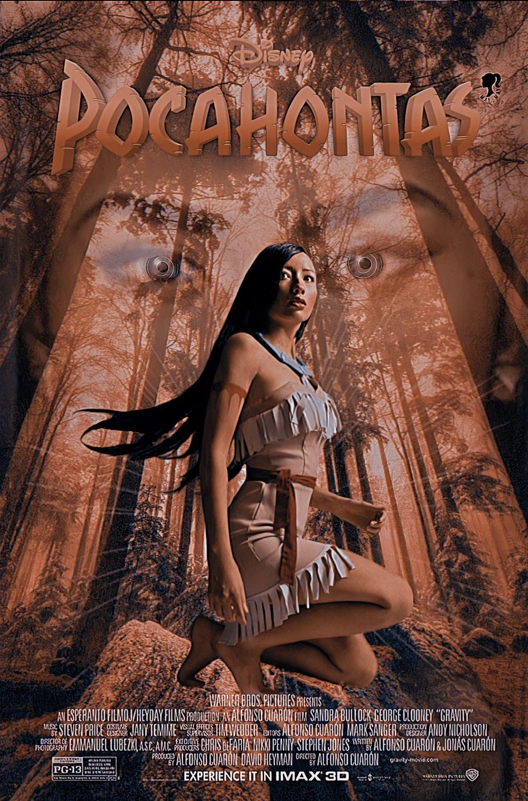 Pocahontas Live Action Poster Fã em 2020 Live action