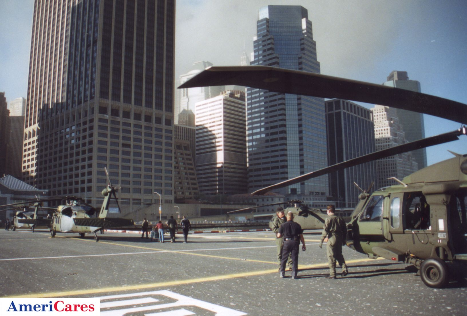 2001: Four hours after the first attack on the World Trade Center, seven helicopters arranged by AmeriCares landed near Ground Zero with emergency supplies and medical teams. #911 #groundzero Photo: Tony Anthony - All Rights Reserved. Join us: www.facebook.com/americares