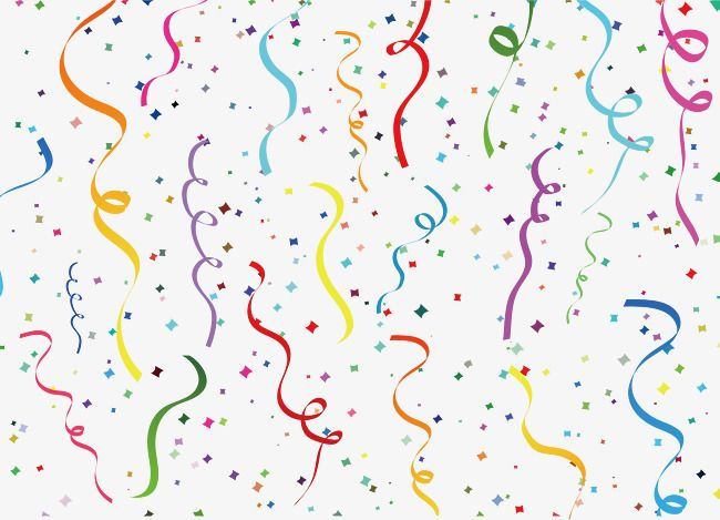 Carnival Ribbon Pattern Png And Vector Confetti Background Confetti Happy Birthday Png