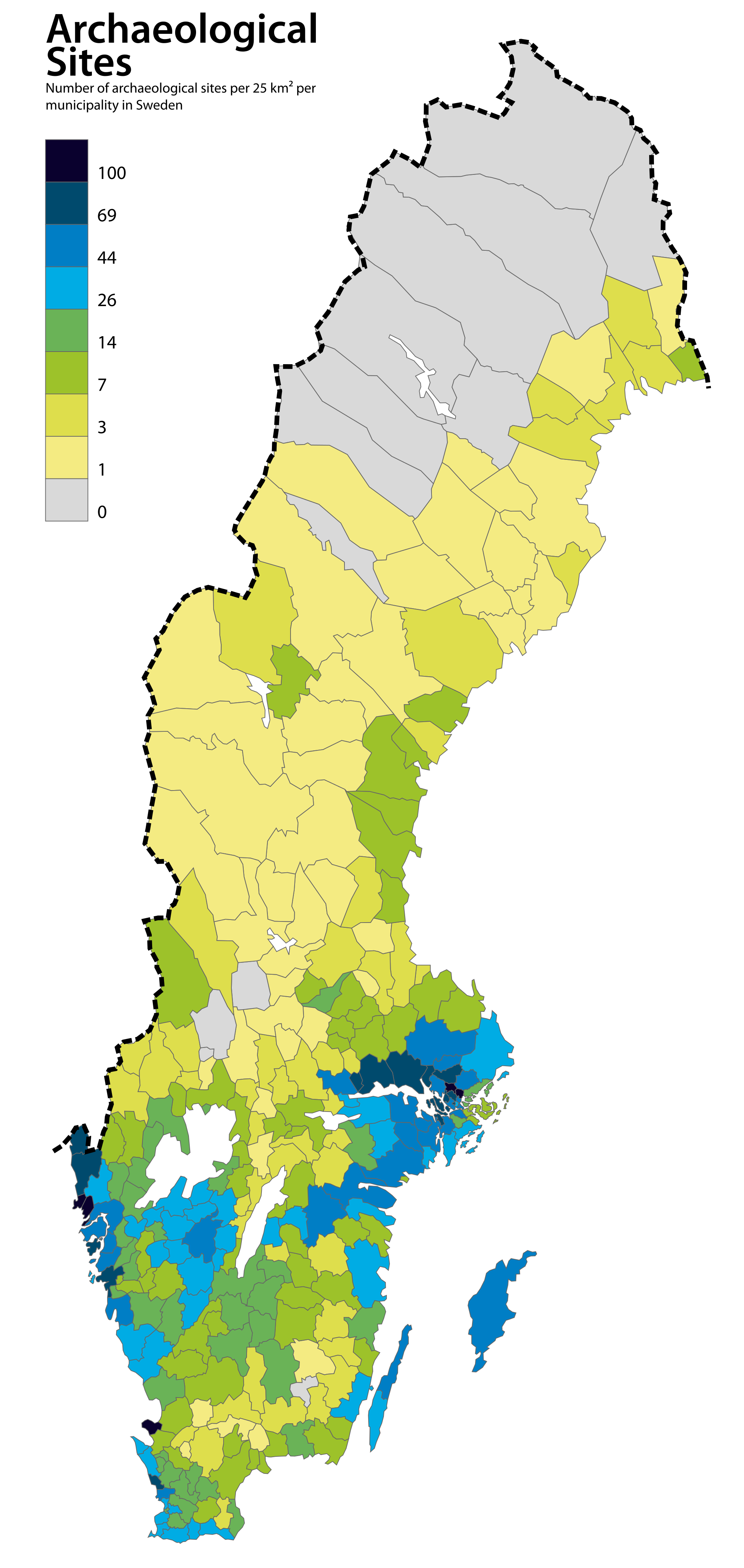 Archaeological Sites In Sweden MAPS Pinterest Archaeological - Sweden map population density