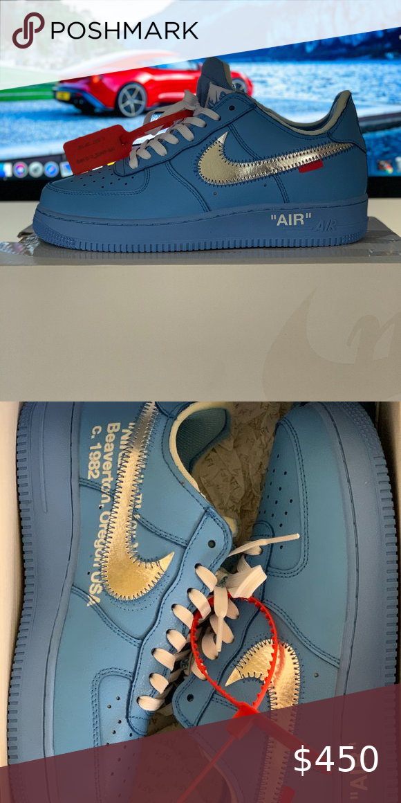 Nike Air Force 1 Low Off White Mca University Blue In 2020 Blue