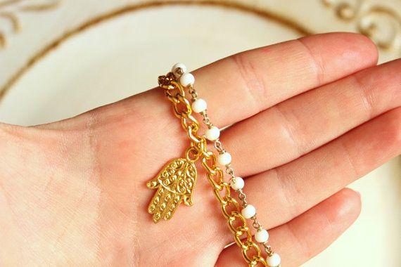 Bracciale mano di fatima Bracciale rosario Bracciale di Stonivine