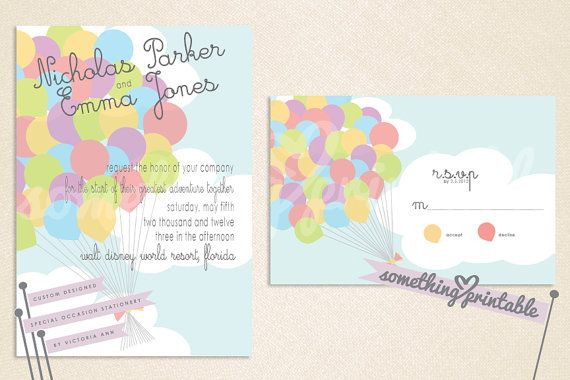 Up Themed Wedding Invitations: Invitations For An 'Up' Theme Wedding