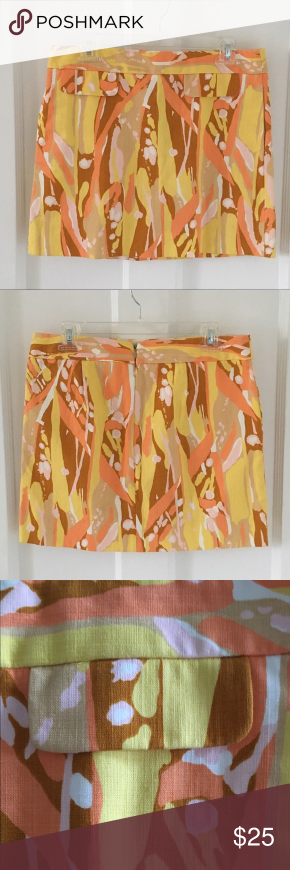 J Crew Mini Skirt Adorable mini skirt in a great vibrant print for summer. Perfect condition. Size 4 J. Crew Skirts Mini