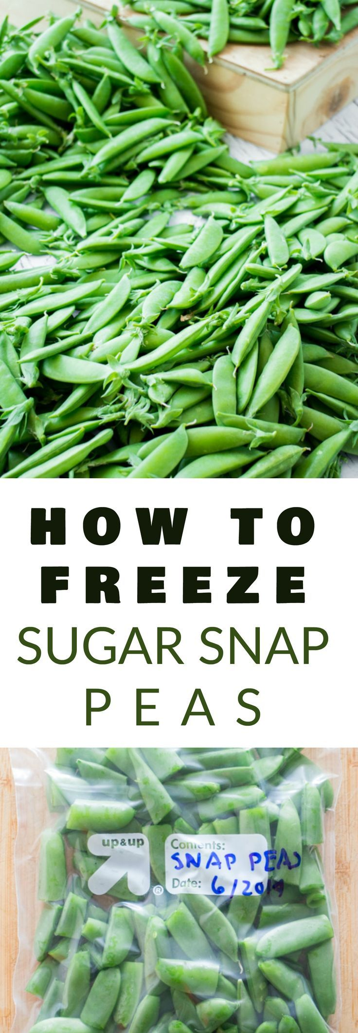 EASY Step by Step Instructions on how to freeze Sugar Snap Peas without blanching! This is a simple way to preserve your Summer Sugar Snap Peas to last for ...