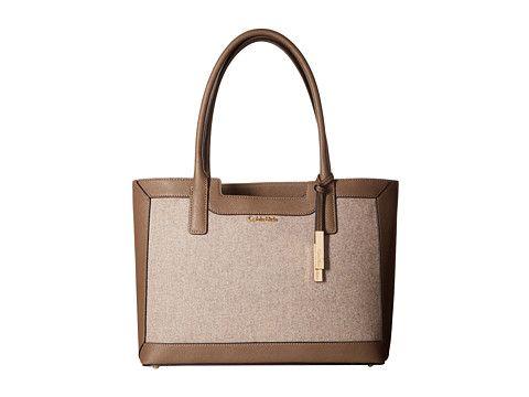 Calvin Klein Saffiano Wool Tote Handbag