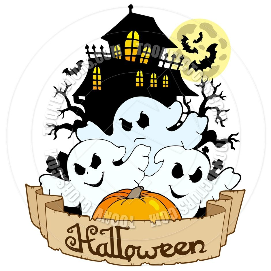 Windmill with happy Halloween sign vector illustration