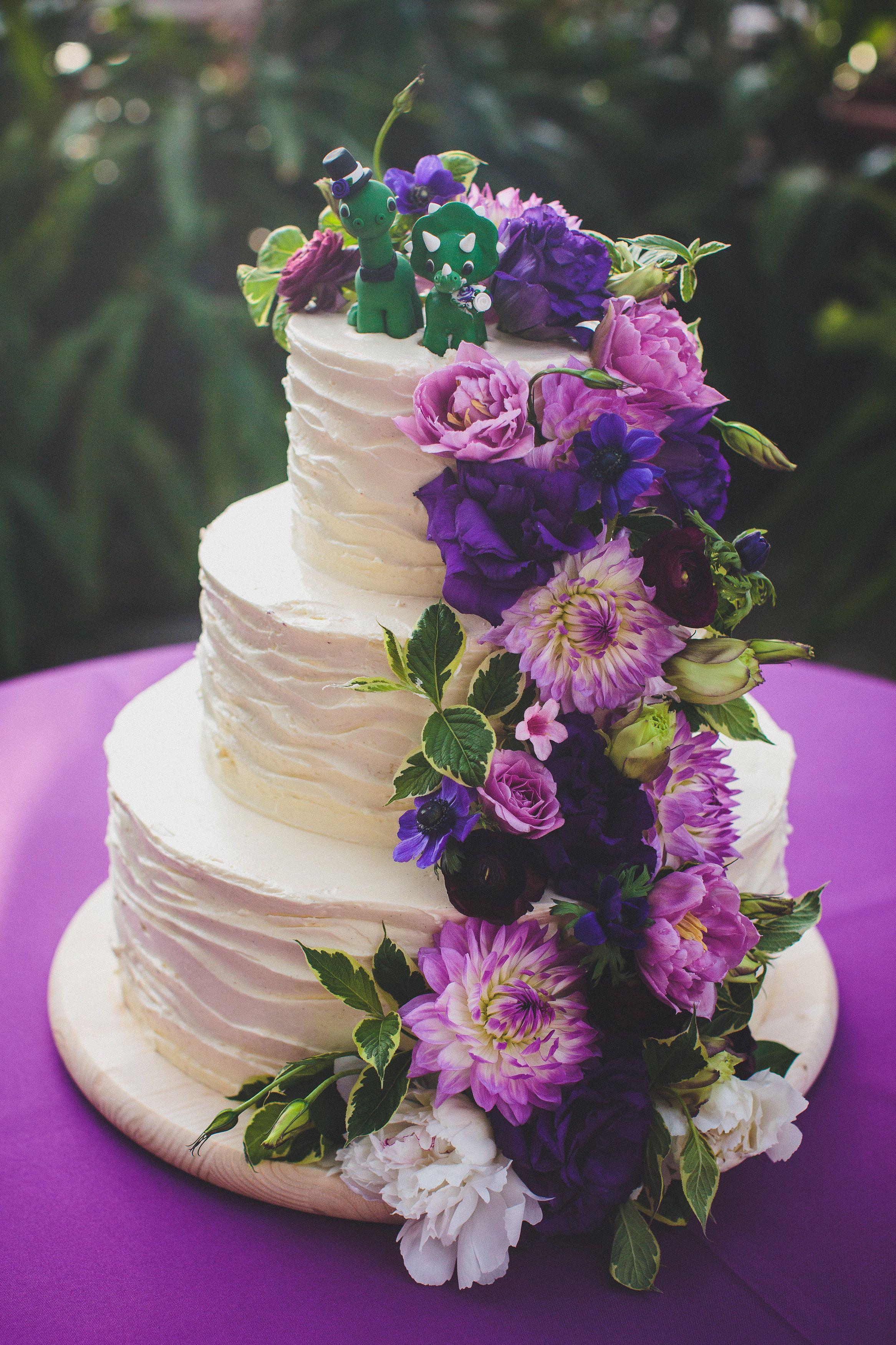 Jazzyflowers Jazzy Flowers Garfield Park Conservatory Chicago Wedding Cake Purple