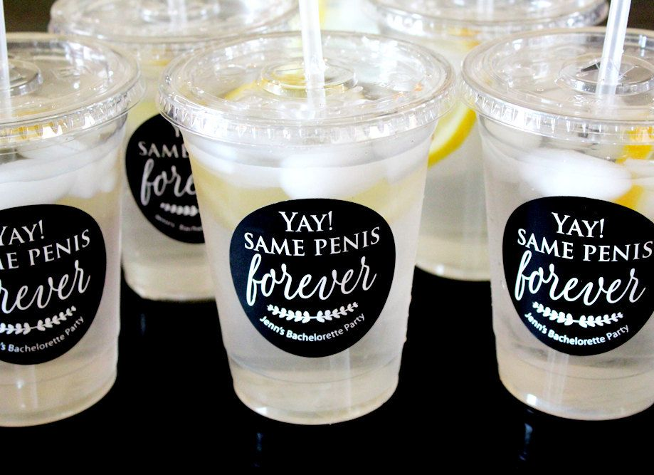 Yay same penis forever waterproof vinyl stickers make your own personalized party cups